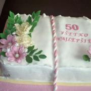 Torta kniha k 50-ke