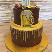 Torta Pánska tortička na tému gril a pivo