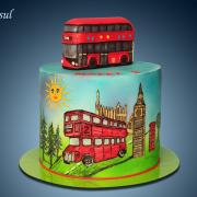 Torta English autobus (obr. maľovaný)