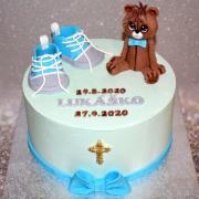 Torta Krstinová tortička s macíkom pre Lukáška