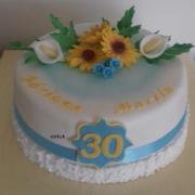 Torta 30. narodeniny