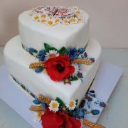 Torta Folklórna svadobná torta