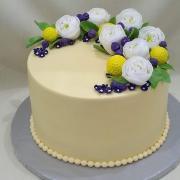 Torta na svadbu s kvietkami