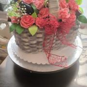 Torta Kvetinový kôš