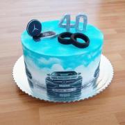 Torta Pre milovníka áut značky Mercedes