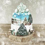 Torta Zimné mestečko