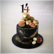 Torta Čierno - zlatá tortička