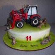 Torta traktor s nakladačom