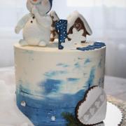 Torta Sněhulák