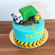 Torta So smetiarskym autom