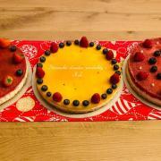 Torta Nepecene zákusky jahodové a mango