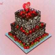 Torta čokládovo - jahodová  č.2