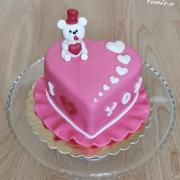 Torta Valentínske srdiečko