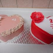 Torta narodeninové srdiečka