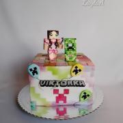 Torta Dievčenská Minecraft tortička