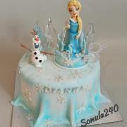 Torta Ľadové kráľovstvo