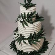 Torta svadobná s olivovými vetvičkami