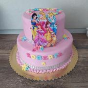 Torta Narodeninová s princeznami