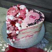 Torta Torta s penovými dekoráciami