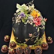 Torta Halloweenska narodeninová tekvica