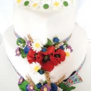 Torta Svadobná 247 srdcia s lúčnymi kvetmi
