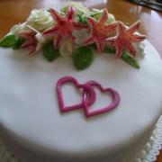 Torta svadobná iný pohľad