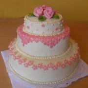Torta Ružové minikvietky