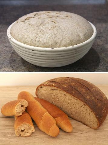 Špaldovo - ražný kváskový chlebík - recept postup 2
