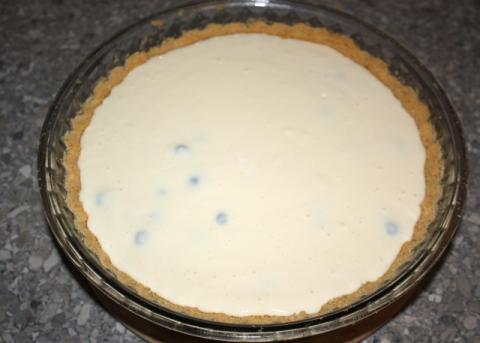 Čučoriedkový cheesecake - recept postup 5