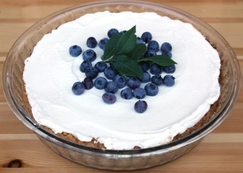 Čučoriedkový cheesecake - recept postup 8