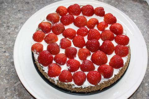 Jahodovo - maková torta - recept postup 6
