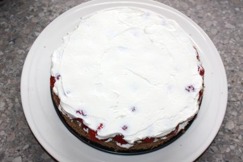 Jahodovo - maková torta - recept postup 7