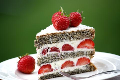 Jahodovo - maková torta - recept postup 11