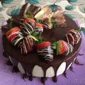 Torta čoko - jahoda