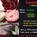 Torta Kurz čokoládových kvetín