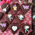 Torta Valentínske čokoládové srdiečka
