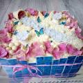 Torta Čokoládová so živými hortenziami
