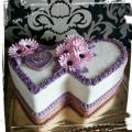 Torta Svadobná v ružovo-fialovom prevedení