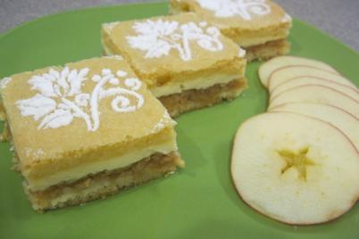 Jablkový tvarožník - recept