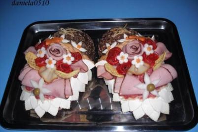 Slaná torta - papučky - foto postup
