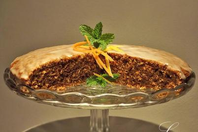 Mrkvová torta s citrónovou polevou - recept