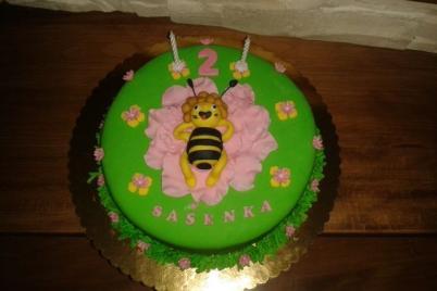 ležiaca včielka Mája - foto postup