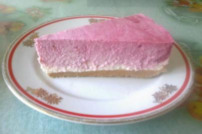 Malinová tvarohová zvírená torta - recept