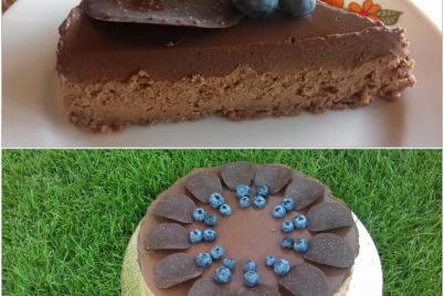 Nepečený čokoládový cheesecake - recept
