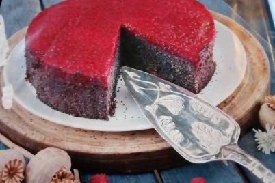 Makovo malinová torta - recept