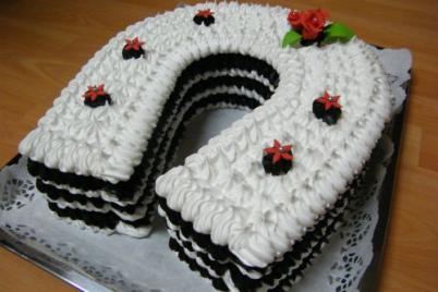Penová torta - foto postup