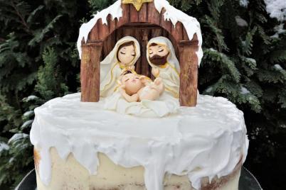 jednoduchý vianočný Betlehem - foto postup