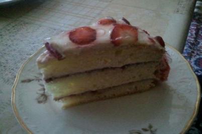 tvarohovo jahodkova torticka mnam - recept