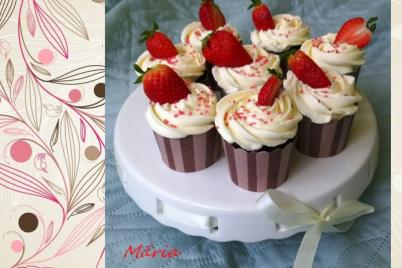 Čokoládové cupcakes s vanilkovým frostingom... - recept