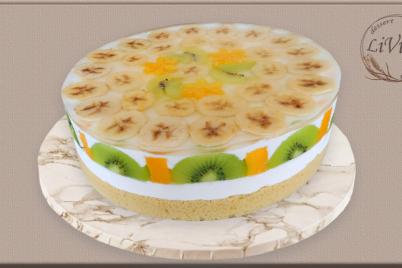 Želatínová torta s exotickým ovocím  - foto postup